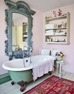 viantage casa de banho destaque azul turquesa