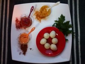 ovos de codorniz spicy
