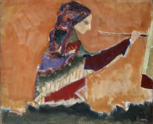 Arpad Szenes-En Peignant-1946