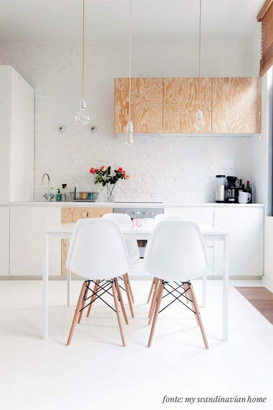 decoracao tijolo branco : decoracao tijolo branco:Sem dúvida, a madeira contrasta com o branco de uma forma muito