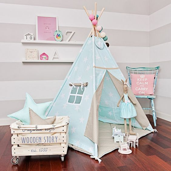 diy 7 como fazer o tipi ou cabana de crian a tezturas. Black Bedroom Furniture Sets. Home Design Ideas