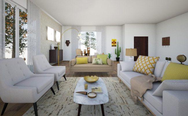Decora o de interiores sala em leiria tezturas for Arquitectura de interiores a distancia